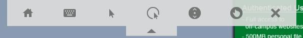 Citrix Mobile Toolbar Shown