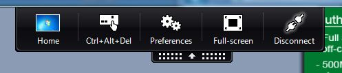 This is the desktop toolbar shown