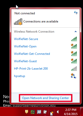 Manually Setting Up a WolfieNet-Secure Connection in Windows