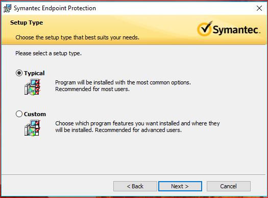 Installing Symantec Antivirus for Windows | Division of