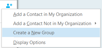 Working with Groups in Skype for Business | Division of