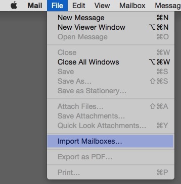 file > import mailboxes