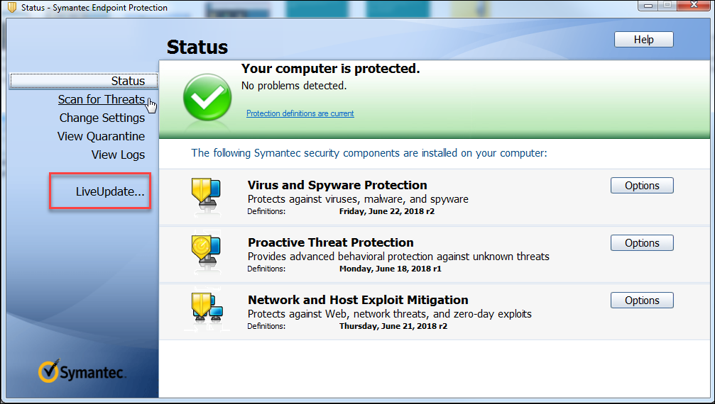 Symantec endpoint protection manager liveupdate not updating virus definitions rules of dating men