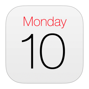 Apple Calendar app icon: Monday 10