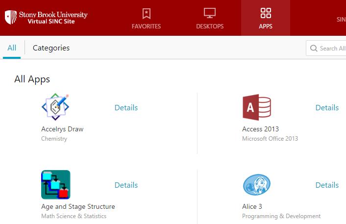 VSS App list
