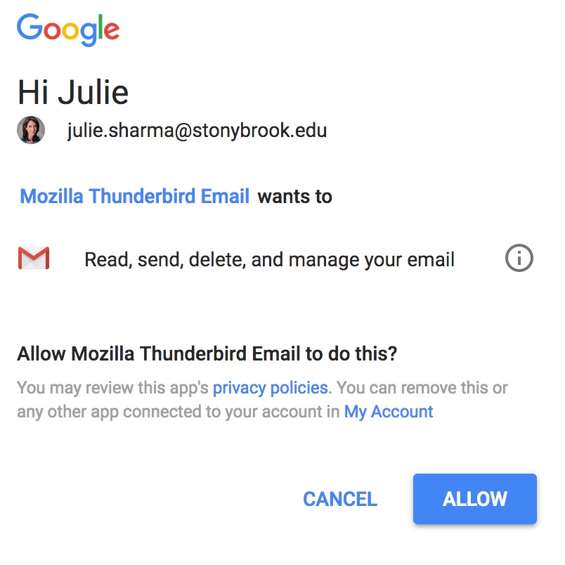 Moving Stony Brook Google Mail Messages to a Personal Gmail