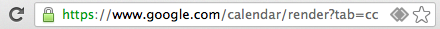 address bar with handler icon