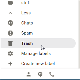 Moving a Gmail Message Out of Trash or Spam and Preventing