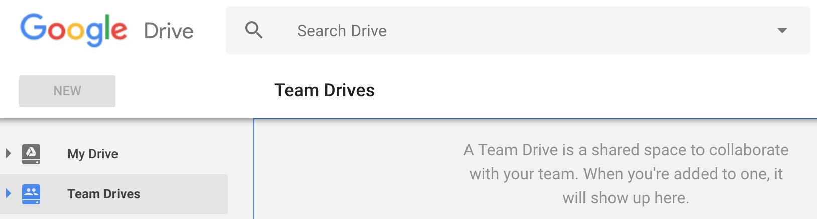 My Drive and Team Drive in Google Drive