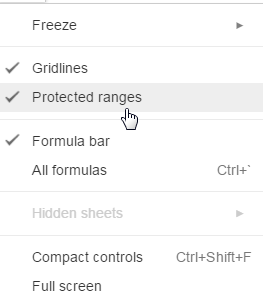 Preventing Others from Editing the Wrong Cells in a Google