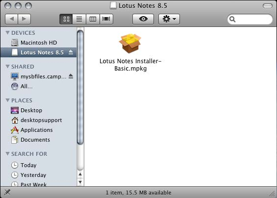 how to see files notes mac