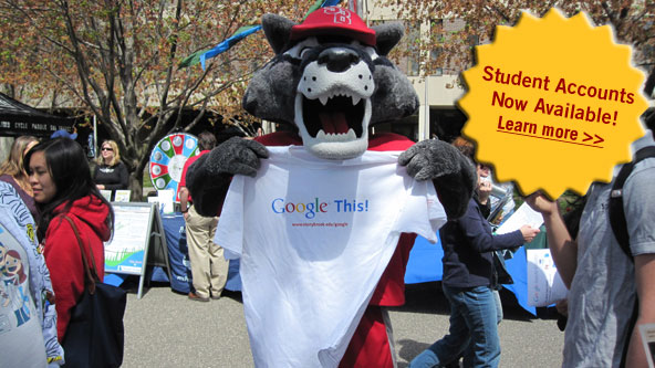 Wolfie Holding Up Google This T-shirt