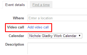 Inviting others to a google hangout from google calendar division click add a video call to the invitation stopboris Images