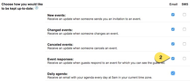google_calendar_event_responses changing or turning off notifications for events in google,Google Calendar Event Invite
