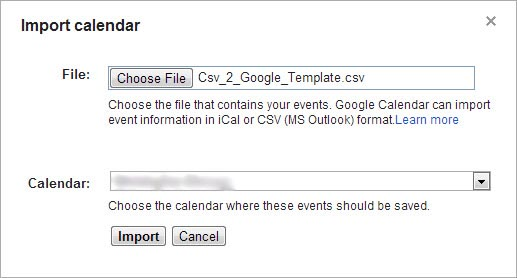 "This is an image of Google's ""Import calendar"" menu."