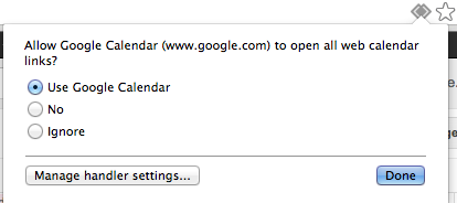 Google Calendar Handler options