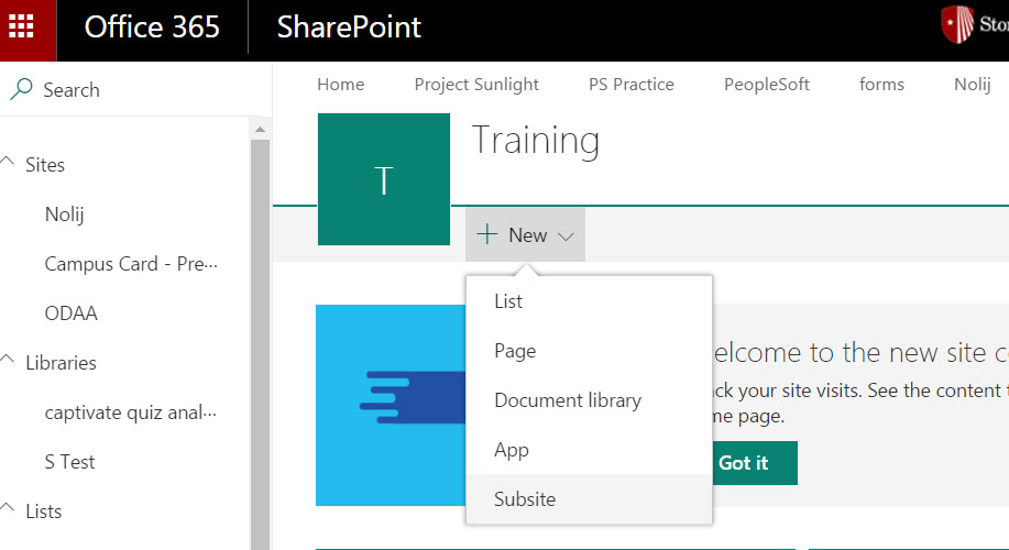 Creating A Collaborative Team Site In SharePoint