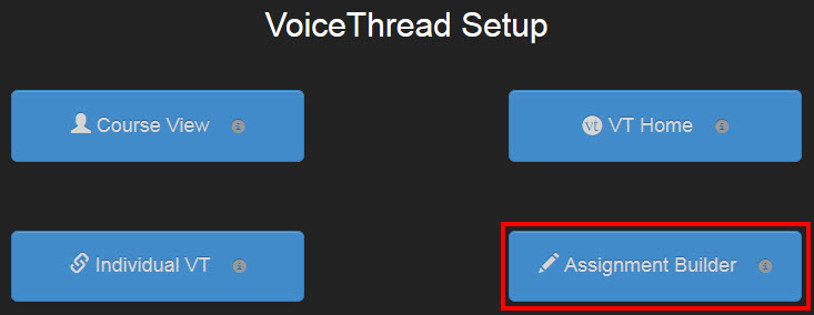 This is an image of the VoiceThread Setup screen in Blackboard.